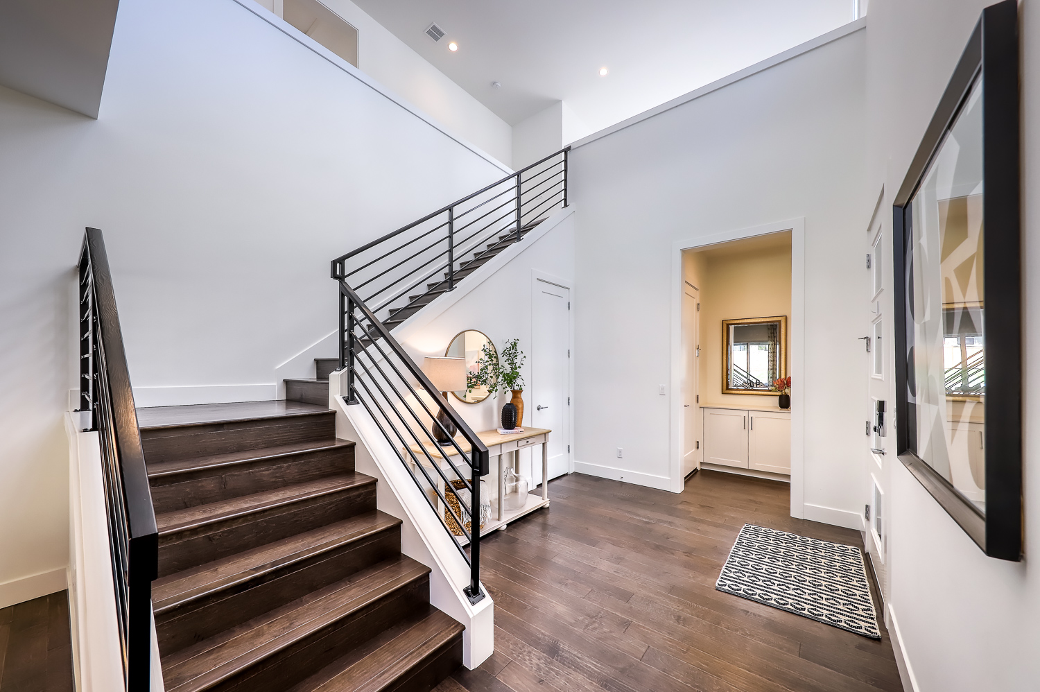 Stairs And Entry Powder Room